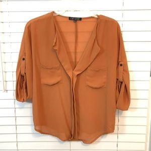 Small sheer blouse 3/4 sleeves